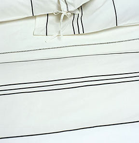 Area Organic Navy White Duvet