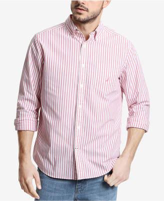 Nautica Men Big & Tall Classic Fit Vertical Stripe Long Sleeve Shirt