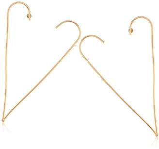 Steve Madden Open Heart Post Drop Earrings