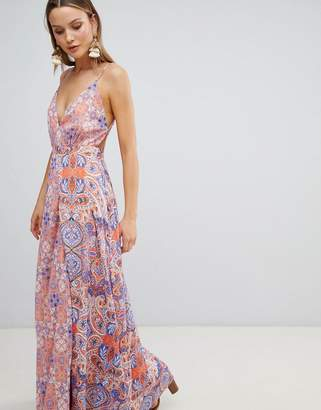 The Jetset Diaries Printed Split Front Maxi Dress