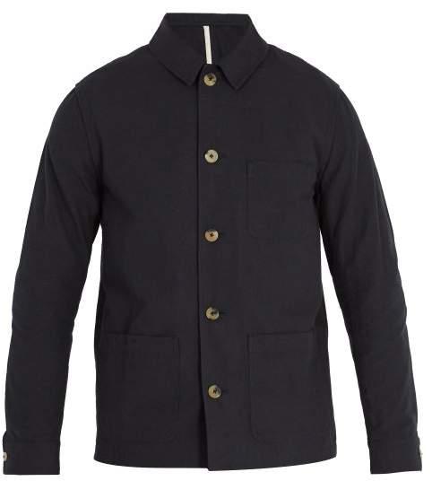 DE BONNE FACTURE Point-collar slub-cotton canvas jacket