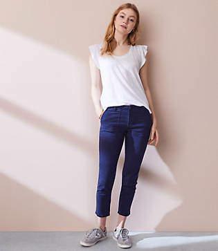 Lou & Grey Garment Dye Brushed Sateen Skinny Pants