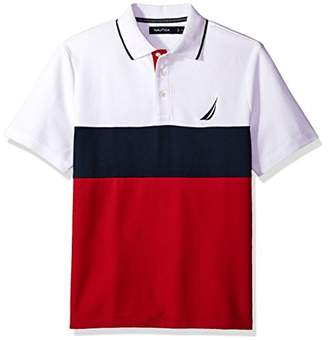 Nautica Men's Classic Fit Short Sleeve Heritage Logo Polo Shirt