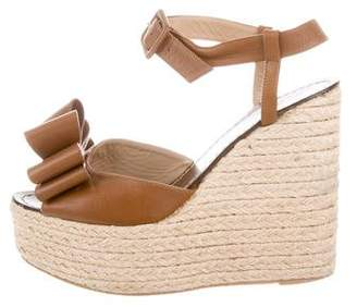 Valentino Bow Espadrille Wedges