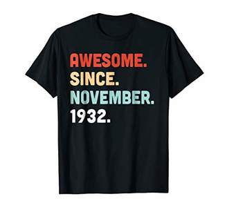 Awesome Since November 1932 86th Years Old Birthday Shirt