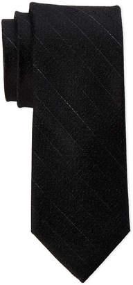 Calvin Klein Black Silk Pebble Grain Tie