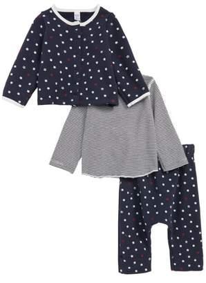 Petit Bateau Takumi Cardigan, Tee & Pants