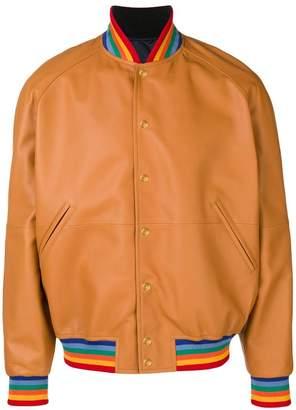 Loewe contrasting bomber jacket