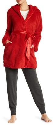Maidenform Plush Hooded Robe