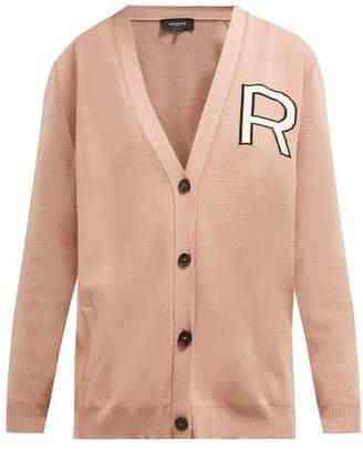 100d9baea0 Rochas Logo Intarsia R Cotton Cardigan - Womens - Pink