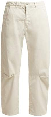 Nili Lotan - Emerson Stretch Cotton Wide Leg Trousers - Womens - White