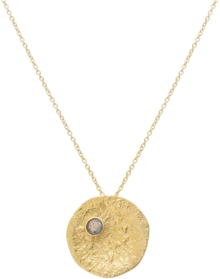 Oliver Bonas Nauo Stone & Round Textured Necklace