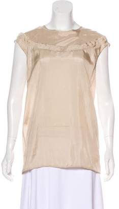Marni Semi-Sheer Short Sleeve Top