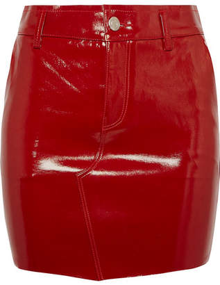 RtA Callie Patent-leather Mini Skirt