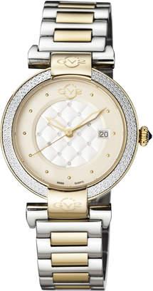 Gv2 1508 Berletta Gold-Tone & Silver-Tone Diamond Watch