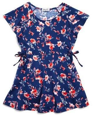 Splendid Girls' Floral Flutter-Sleeve Dress - Big Kid