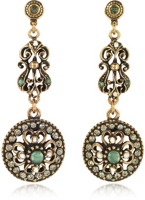 Alcozer & J Drop Earrings w/Rough Emeralds