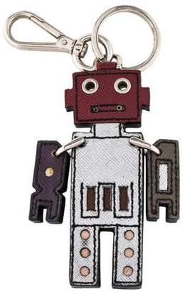 Prada Robot Leather Keychain