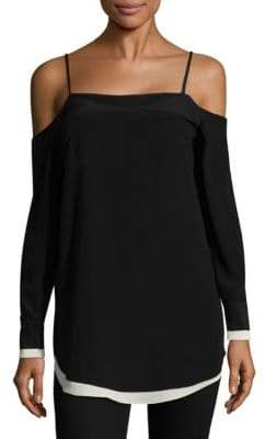 Rag & Bone Karley Silk Cold-Shoulder Top