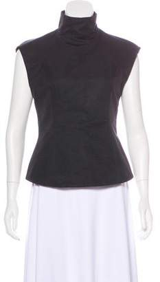 Gareth Pugh Sleeveless Mock Neck Top