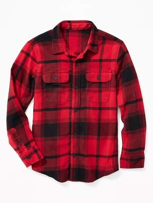 Old Navy Built-In Flex Flannel Pocket Shirt for Boys