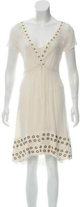 AllSaints Grommet Midi Dress
