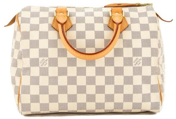 Louis Vuitton Damier Azur Canvas Speedy 25 Bag