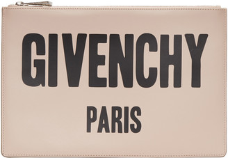 Givenchy Pink Logo Pouch $575 thestylecure.com