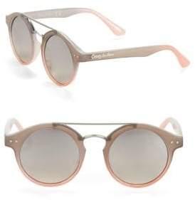 Sam Edelman 50MM Logo Round Sunglasses