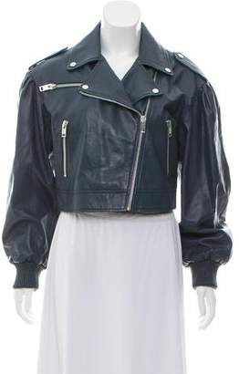 Walter Baker Embroidered Leather Jacket