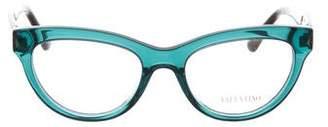 Valentino Cat-Eye Rockstud Eyeglasses