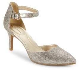 Bandolino Ginata Shimmer Ankle Strap Pumps