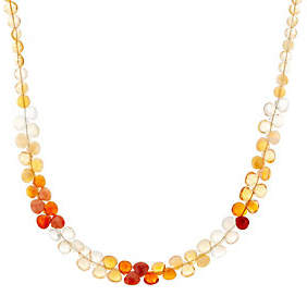 QVC Colors of Fire Opal Bead Necklace,Sterling