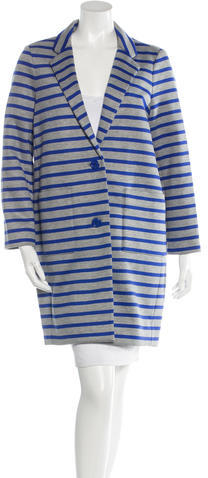 Kate Spade Kate Spade New York Striped Knee-Length Coat w/ Tags