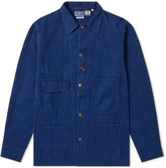 Blue Blue Japan Sashiko Railroad Worker Jacket