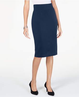 b8677907d6 Alfani Petite Wide-Waistband Curvy Scuba Pencil Skirt