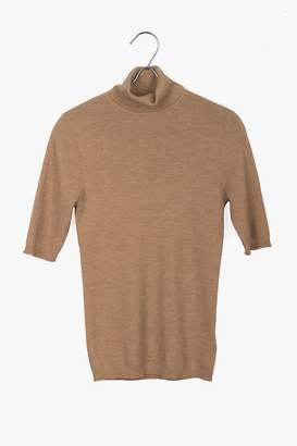 Genuine People Short Sleeve Wool Turtleneck Sweater