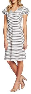 Cynthia Steffe CeCe by Bohemian Bazaar Striped Cotton Blend Day Dress