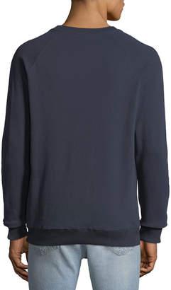 Knowledge Cotton Apparel Men's Big Owl Graphic Print Fleece Sweatshirt