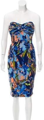 Tracy Reese Printed Strapless Dress