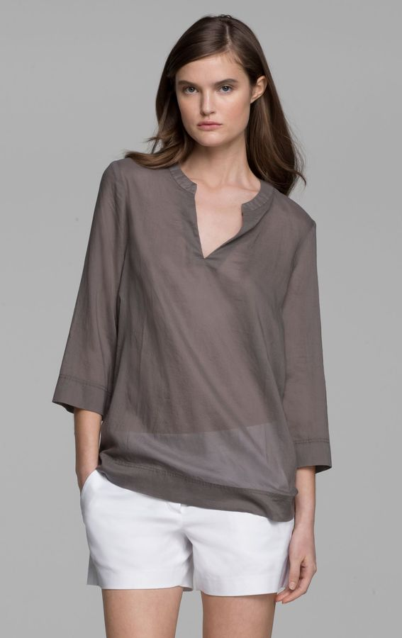 Theory Hellio Top in Aliso Cotton Blend