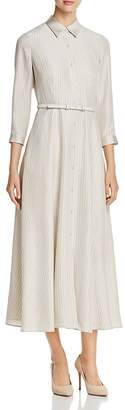 Lafayette 148 New York Dario Silk Midi Shirt Dress