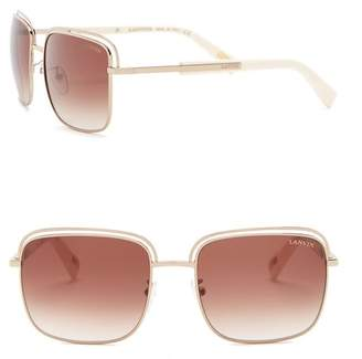 Lanvin 57mm Rectangle Sunglasses