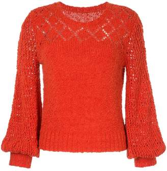 Onefifteen bishop sleeve knitted jumper