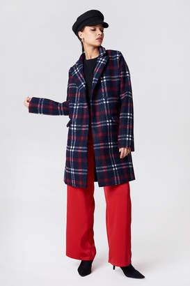 Na Kd Trend Checked Short Coat