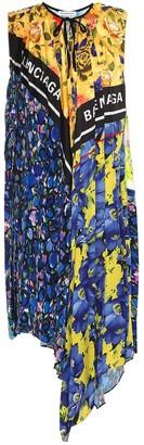 Balenciaga Scarf printed dress