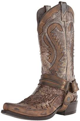 Stetson Men's Outlaw Distressed Harness Boot
