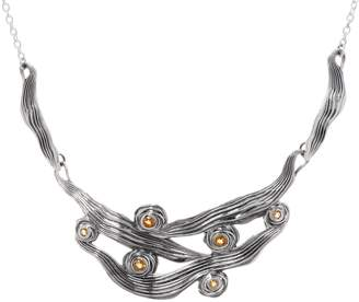 Or Paz Sterling Silver Textured Gemstone Accent Necklace
