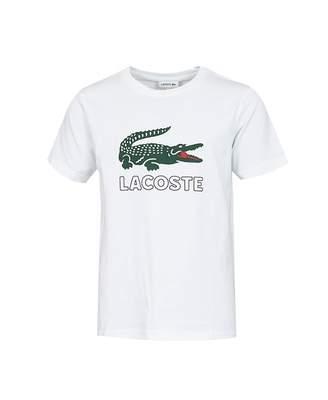Lacoste Sport Retro Large Croc Logo T-shirt Colour: WHITE, Size: Age 4