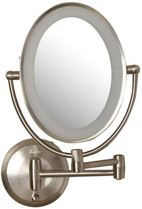 Wrought Studio Howell Cordless Dual LED Lighted Oval Wall Mount Mirror with 1X and 10X Magnification